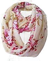 Spikerking Women's Spring pretty pattern Geometry Print Chiffon Infinity Scarf Multi Colors
