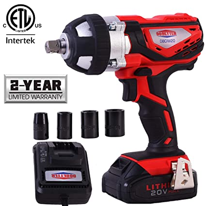 1 2 Cordless Impact >> Dobetter Cordless Impact Wrench 1 2 Inch Compact Driver Battery Impact Wrench 1 2 Inch High Torque Portable Impact Gun 20v Electric Impact Tool
