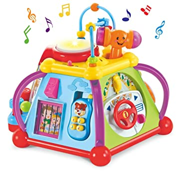 Cubo Educativo Baby Playamp; Musical Learn Juguete De Center Wishtime Activity erCxWdBo