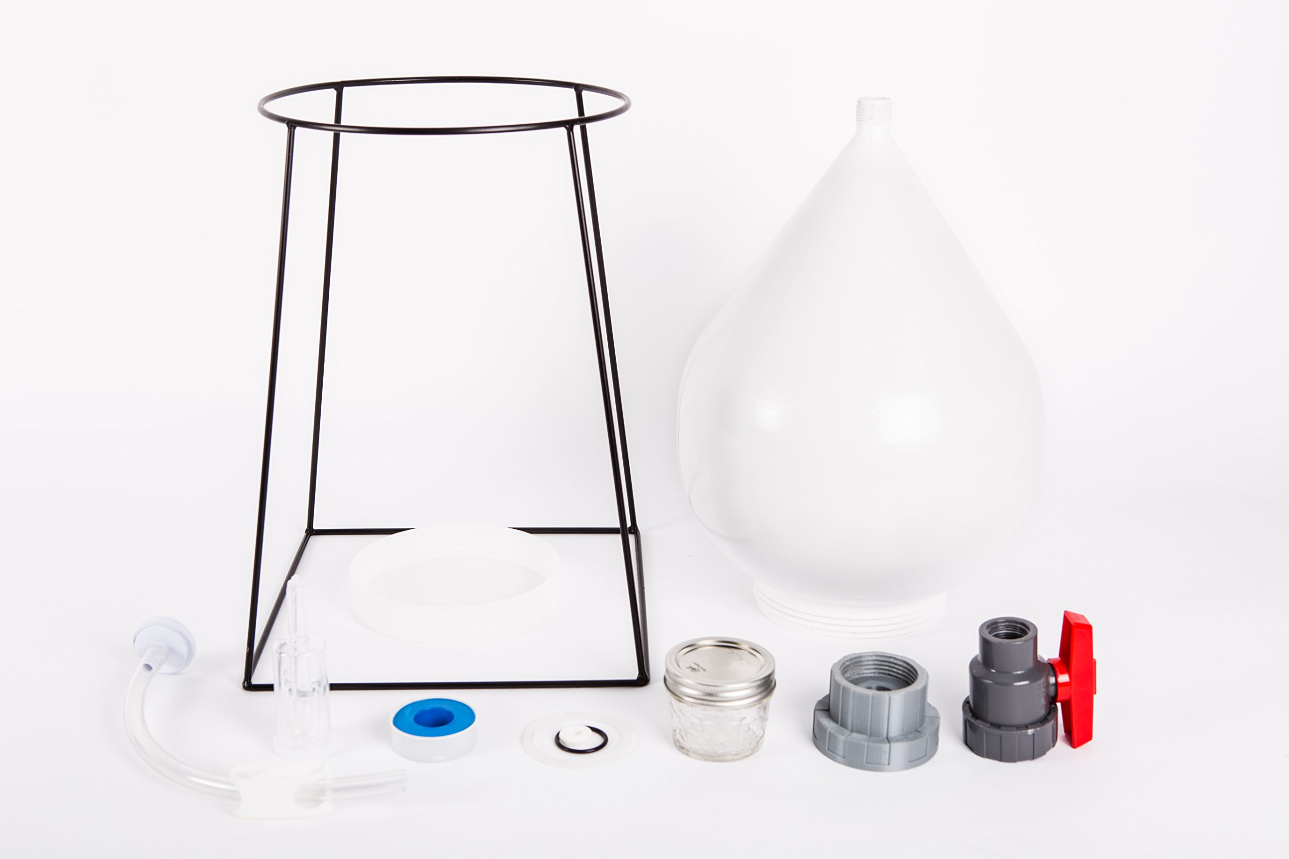FastFerment Conical Fermenter - Home-Brew Kit - BPA Free Food Grade Primary Carboy Fermenter. Perfect 3 Gallon fermenter or a Small Batch 1 Gallon fermenter. Stand and All Hardware incl (3 Gallon) by FastFerment (Image #4)