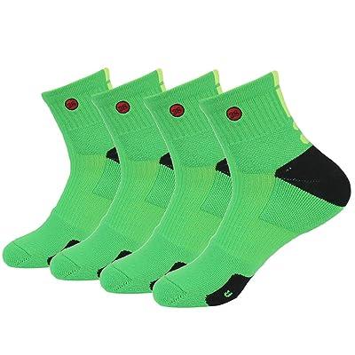 3street Men's Dri Fit Cushioned Comfort Youth Basketball Socks,Multicolored
