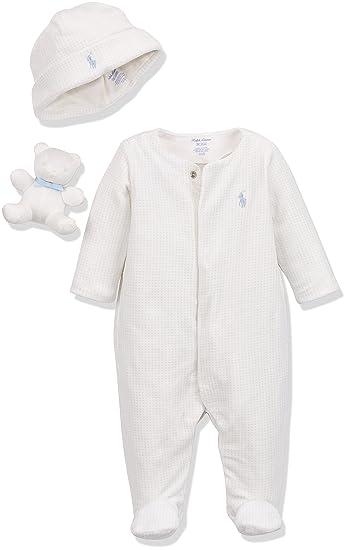 Ralph Lauren Polo Baby Velour Ac Gbx Gift Box Set Footies Beige
