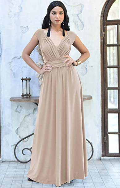 Womens Cap Short Sleeve Elegant Cocktail Evening Gown