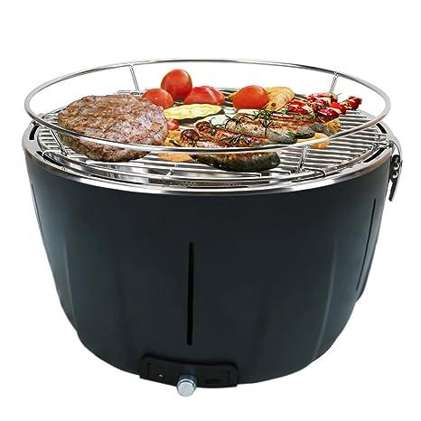 Aobosi Barbacoa Portátiles Carbón Grill con Ventilador Turbo Incorporado y Bolsa de Viaje, Parrilla de Acero Inoxidable, Perfecto Para Acampar, ...