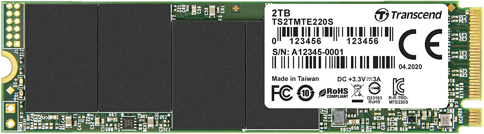 Transcend Ts2tmte220s 2tb M 2 Ultra High Speed Ssd For High End Applications Fast Transfer Up To 3 500 2 700 Mb S Pcie Gen3 X4 2280 Amazon De Computer Accessories