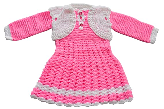 7eff887e5 Apna Showroom Baby Girl s Woolen Sweater (Pink  18 - 24 Months)  Amazon.in   Clothing   Accessories