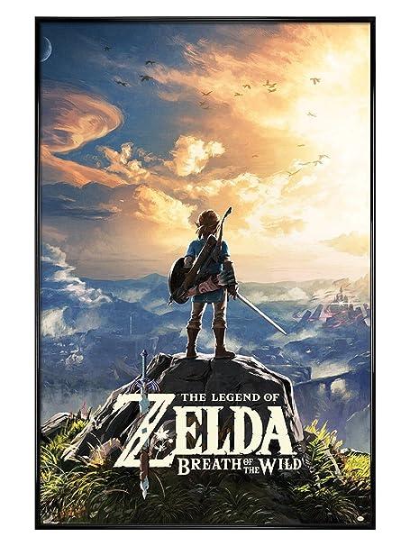 Framed The Legend Of Zelda Breath Of The Wild Sunset Poster