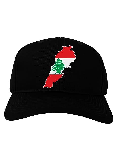 eec045a0185 Amazon.com  TooLoud Lebanon Flag Silhouette Adult Dark Baseball Cap Hat -  Black  Clothing