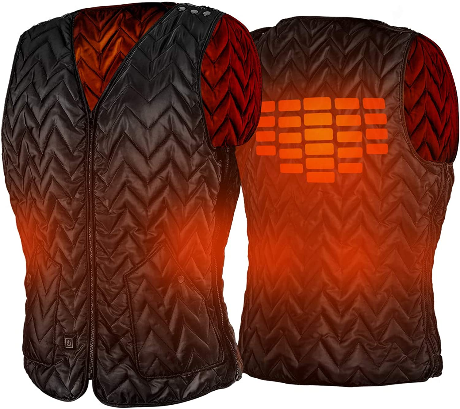 5 Heating Zones Washable, batteries not included USB Charging Mode Super Thermal Protection AiBast Heated Vest Comfortable Materials Heated Clothing With Rapid Heating Outdoor Heated Vest