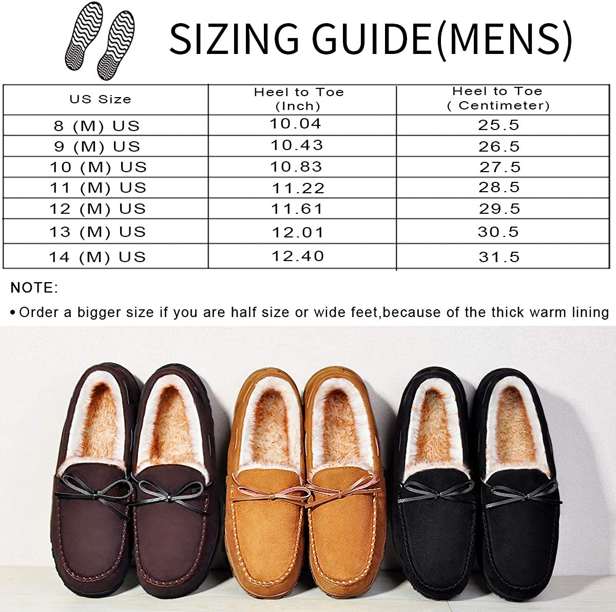 | MIXIN Mens Slippers Moccasins Slippers for Men Warm House Slip on Flats Shoes with Cozy Memory Foam for Men Indoor | Slippers