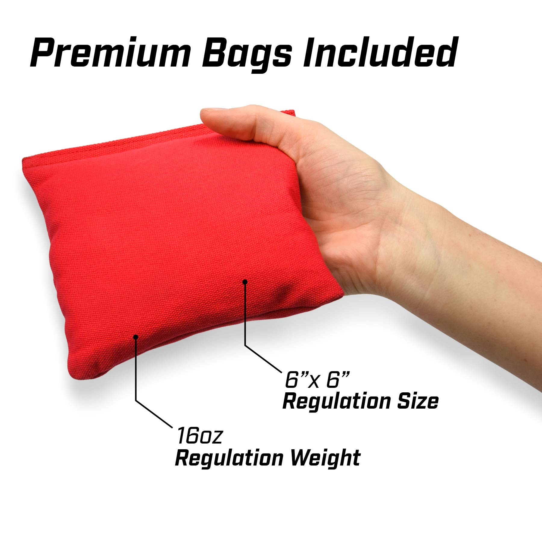 GoSports Bamboo Regulation Size Bamboo Cornhole Set   Includes 8 Bean Bags & Carrying Case by GoSports (Image #4)