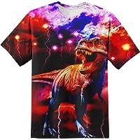 YAJOOEY Boys Girls Kids Tee Shirt 3D Print Graphic Short Sleeve Shirt for Kids 6-16 Years