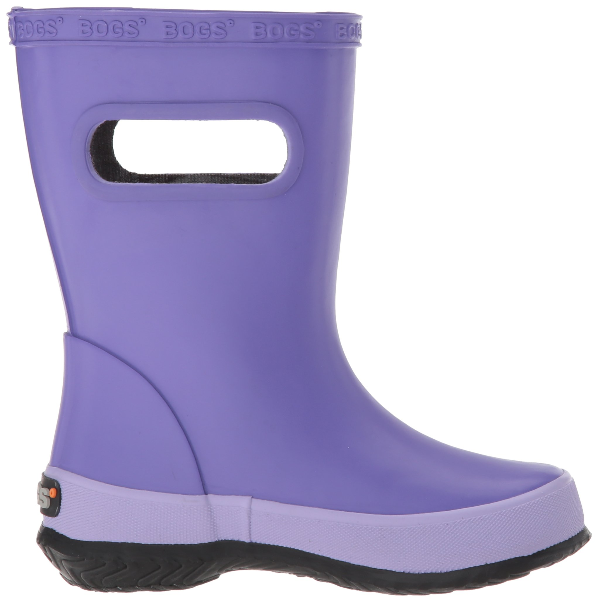 Bogs Kids' Skipper Waterproof Rubber Rain Boot for Boys and Girls,Solid Violet,11 M US Little Kid by Bogs (Image #7)