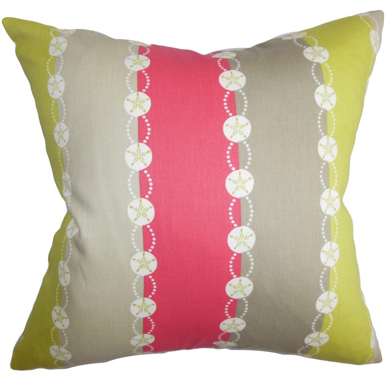 The枕コレクションqueen-d-42149-springtime-c100ピンクグレーxyliemストライプ寝具シャム、クイーン/ 20
