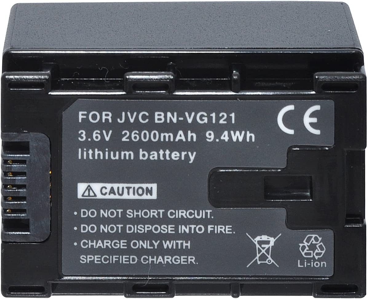 Black E//EX//GX Series Camcorders Xit XTVG121 Lithium Replacement Battery for JVC VG121