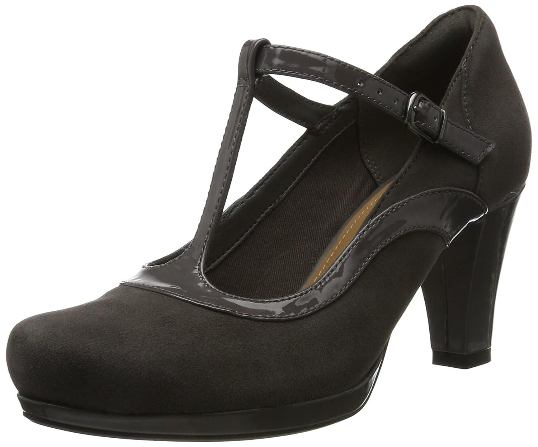 Clarks Chorus Pitch, Zapatos de Tacón para Mujer 42 EU|Gris (Dark Grey Combi)