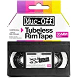 Muc Off Tubeless Rim Tape, 35mm - Pressure-Sensitive Adhesive Rim Tape for Tubeless Bike Tyre Setups - 10 Metre Roll…