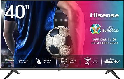 Hisense 40AE5500F - Smart TV, Resolución Full HD, Natural Color Enhancer, Dolby Audio, Vidaa U 2.5 con IA, HDMI, USB, Salida auriculares: Amazon.es: Electrónica
