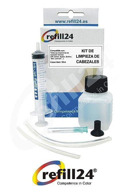 Limpieza de los Cabezales de impresión Kit de Impresora de inyección de Tinta 50 ml RSNROCKET Limpiador jeringa y la inyección de Fuelle Exclusiva ...