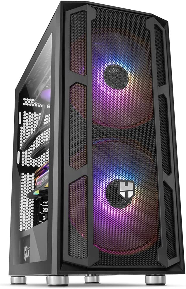 Nox Hummer Nova - NXHUMMERNOVA - Caja PC, Cristal Templado, ARGB, USB 3.0, Color Negro