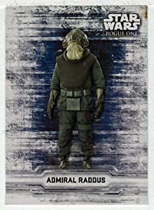 Admiral Raddus - Rogue One: A Star Wars Story Series 1 (Trading Card) STICKER # CS 17 - Topps 2016 Mint