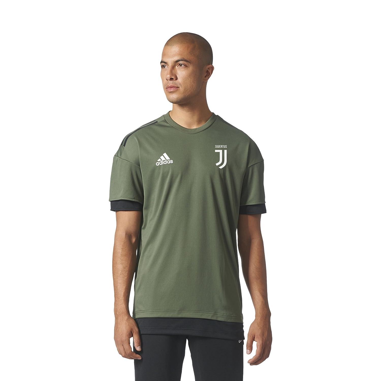 Amazon.com : 2017-2018 Juventus Adidas Training Shirt (Base Green) : Sports & Outdoors