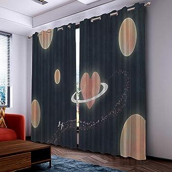 Amazon.com: Fantasy Star Cortinas para salón con ojales ...