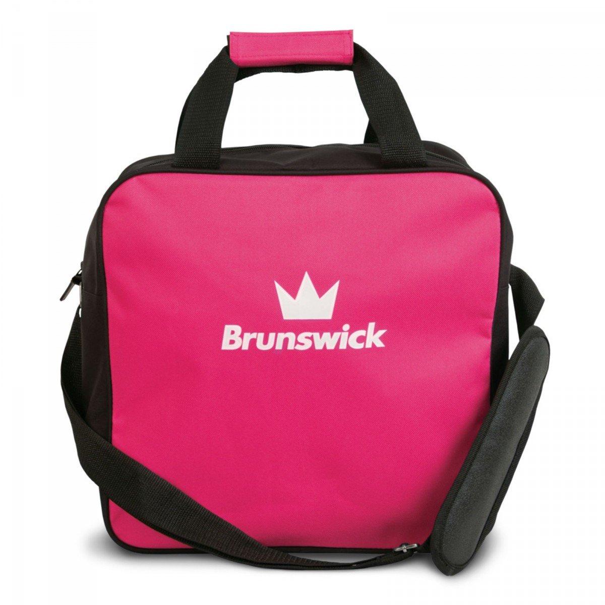Brunswick TZone Single Tote 1-Ball-Bowling-Tasche für einen Bowlingball, Farbe:Pink