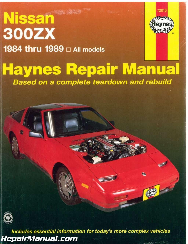 H72010 Haynes Nissan 300zx 1984 1989 Auto Repair Manual Z31 Fuel Filter Location Manufacturer Books