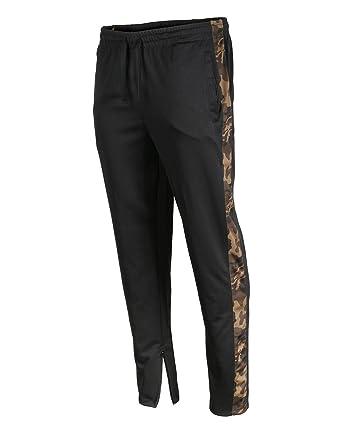 487425f93f8 ZIMEGO Men s Comfort Activewear Contrast Stripe Slim Track Pants with Ankle  Zipper