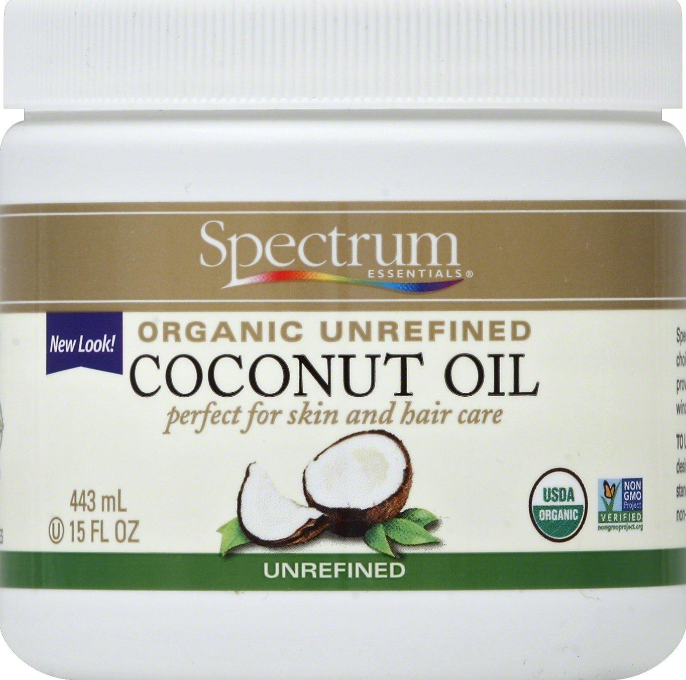Spectrum Essentials Unrefined Organic Coconut Oil, 15 Ounce
