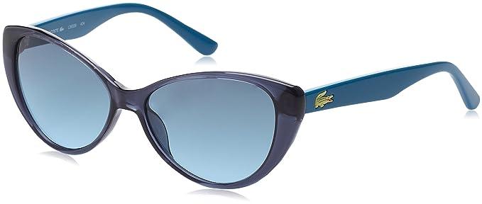 Lacoste Mujer Butterfly Eye Gafas de sol, Azul (Blu), 50