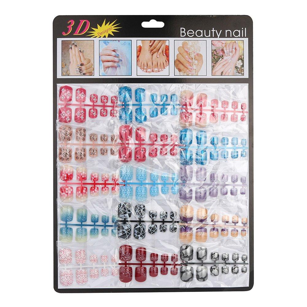LEERYAAY Nail Tool 180pcs Mixed Set False Nail Tips Artificial Fake Nails Art Acrylic Manicure Gel