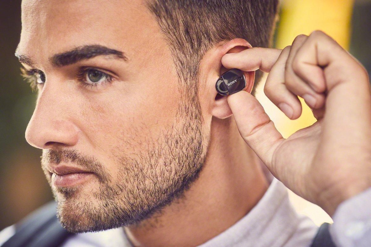 Sony Premium Noise Cancelling True Wireless Headphones - Black (WF1000X/B) by Sony (Image #10)