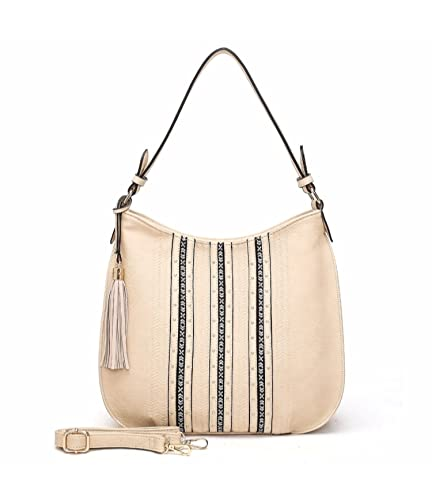 Amazon.com  MKF Collection Charlotte Designer Tote with Guitar Shoulder  Strap by Mia K. Farrow (Beige)  Shoes e343a9cc2d5af