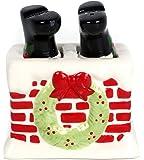 Christmas Santa Legs In Chimney Salt & Pepper Shaker Set
