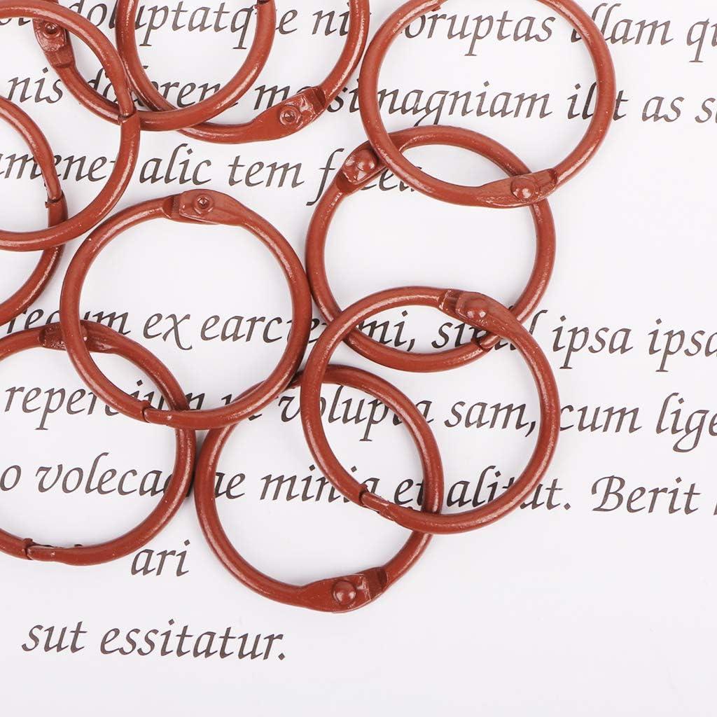 10pcs Metal Loose Leaf Binder Ring Book Hoops DIY Albums School Office Supplies Craft