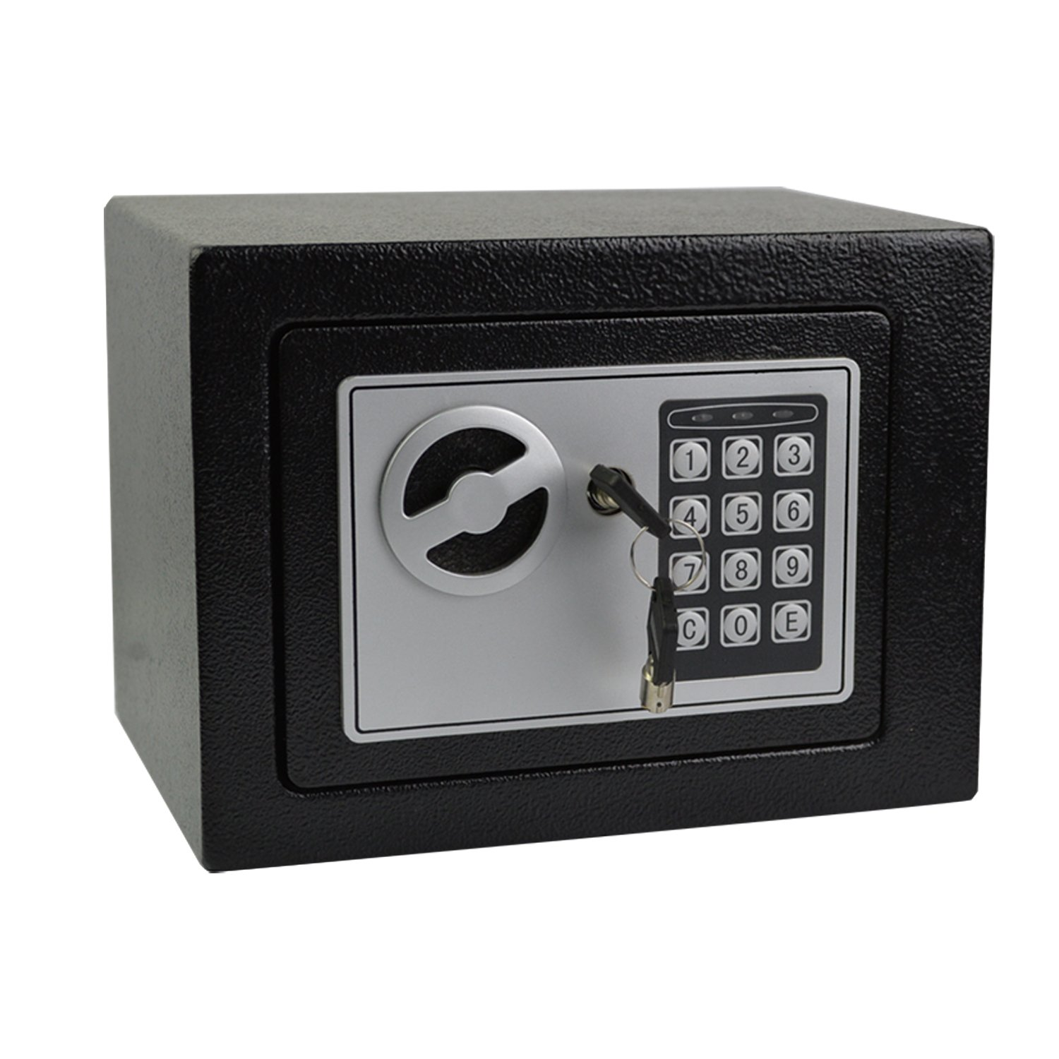 0.2 Cubic Feet Smart Electronic Digital Security Safe Box Keypad Lock, Home Office Hotel Business Jewelry Gun Cash Use Mini Cabinet Storage with 4 Test Batteries
