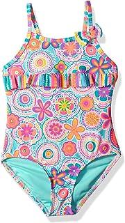 6a2cdfed3b Angel Beach Little Girls Floral and Bird Print One Piece Ruffle Swimsuit