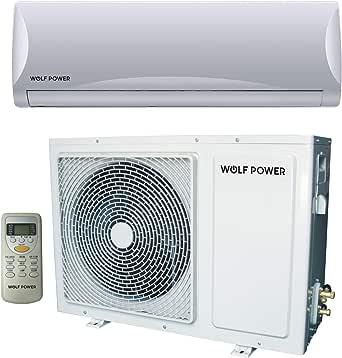 Wolf Power 2 Ton Split Air Conditioner with Piston Compressor, White - WSAC24PCH, 1 Year Warranty