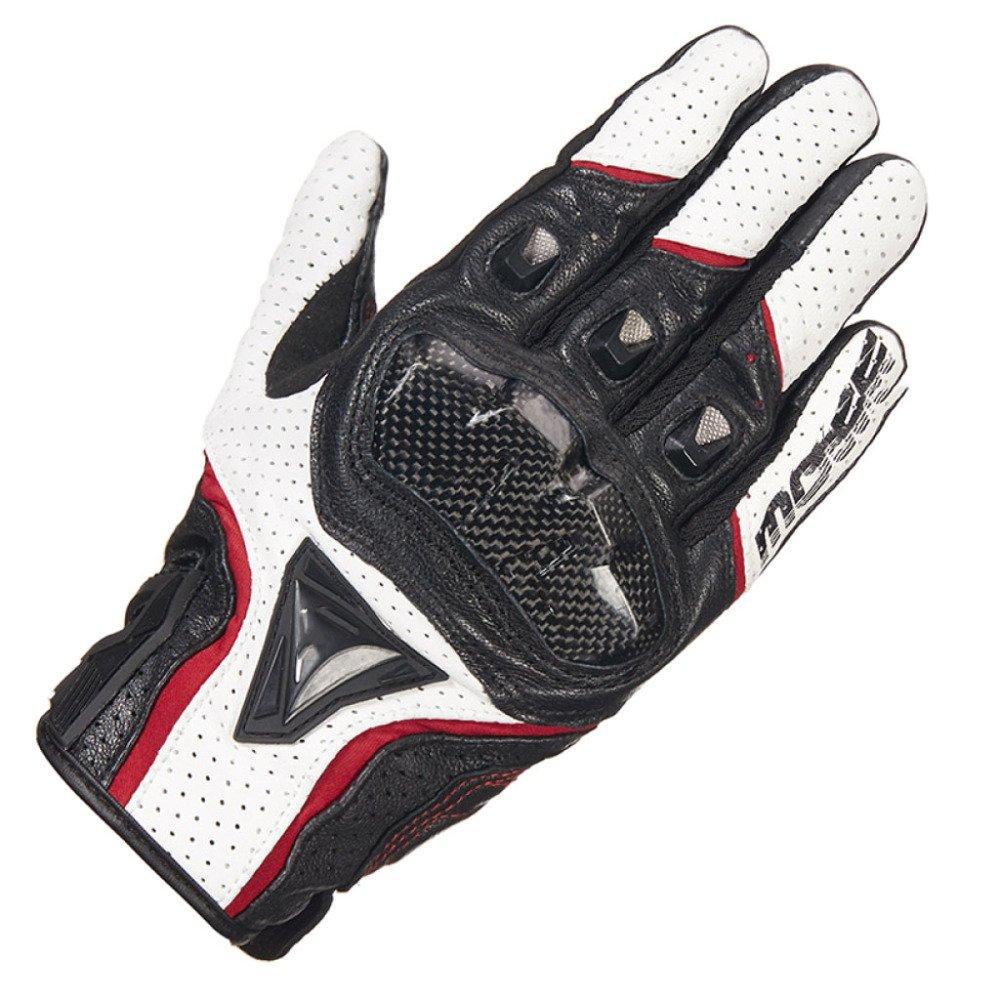 LDFN Touchscreen Handschuhe Verschleißfeste Slip Für Laufen Fahren Skifahren Skating Klettern Motorrad Handschuhe,Weiß+ROT-XXL