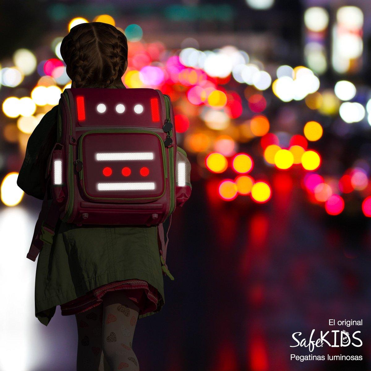 Pegatinas luminosas SafeKIDS, AMARILLO, 13 unidades para ...