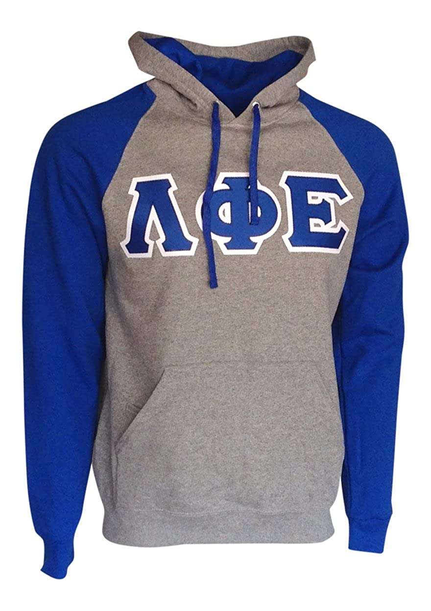 Mega/_Greek Mens Lambda Phi Epsilon Color Block Hooded Sweatshirt