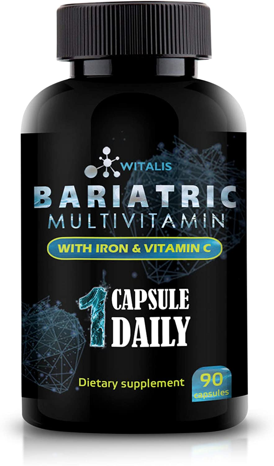 Bariatric Multivitamin - Vitamins for Post Gastric Bypass & Sleeve - Advantage for Weight Loss Surgery -with 30mg Iron & Vitamin C - 90 Vegan, Non-GMO, Dairy & Soy Free - Post Bariatric Health
