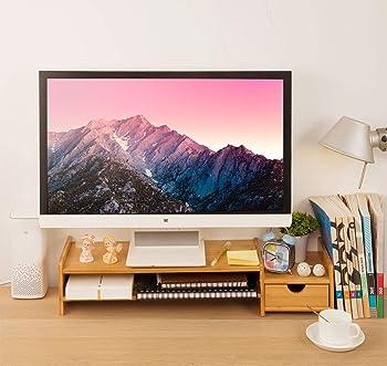 Hynawin Monitor Stand Riser Desk Organizer
