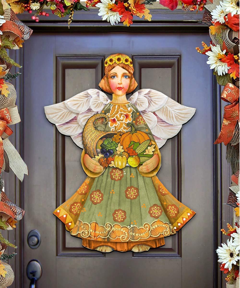 Wall decor #8155232H Thanksgiving hostess gift Thanksgiving Fall Angel Decorative Holiday Door Decoration Thanksgiving Decor