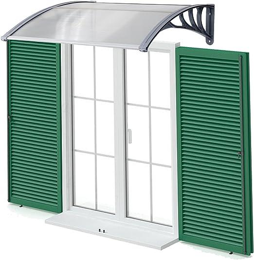 Kinbor - Toldo duro de policarbonato sólido para puertas o ventanas exteriores, cubierta para proteger del sol o la lluvia.: Amazon.es: Bricolaje y herramientas