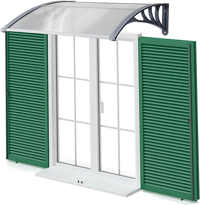 Kinbor - Toldo duro de policarbonato sólido para puertas o ...
