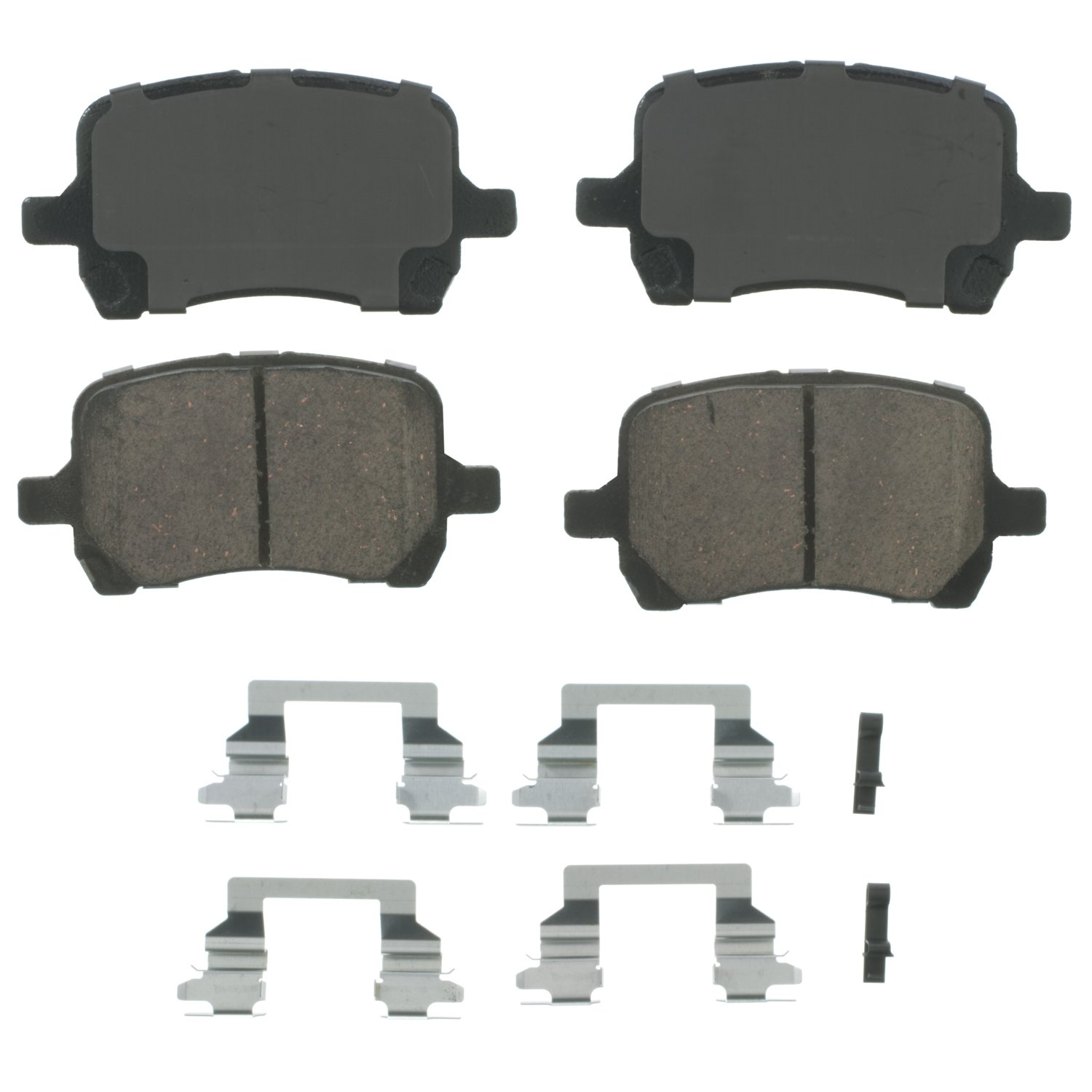 Wagner QuickStop ZD1160 Ceramic Disc Pad Set Includes Pad Installation Hardware Front