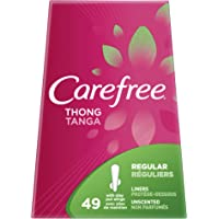 Carefree Carefree Thong Regular 49 Count Unscented Liner, 49 Ounce